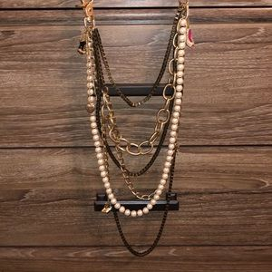 Betsey Johnson multi chain necklace